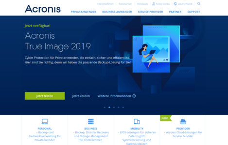 Acronis NAS cloud Backup