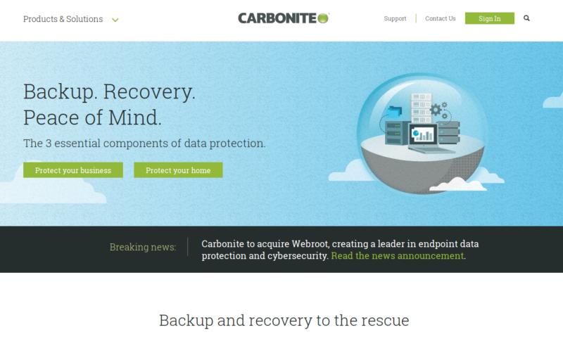 Carbonite NAS Sicherung